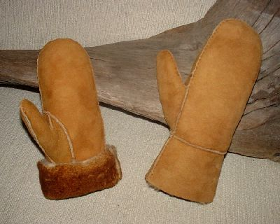 deluxe adult sheepskin mittens