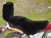UNIVERSAL SHEEPSKIN MOTORCYCLE SEAT COVER