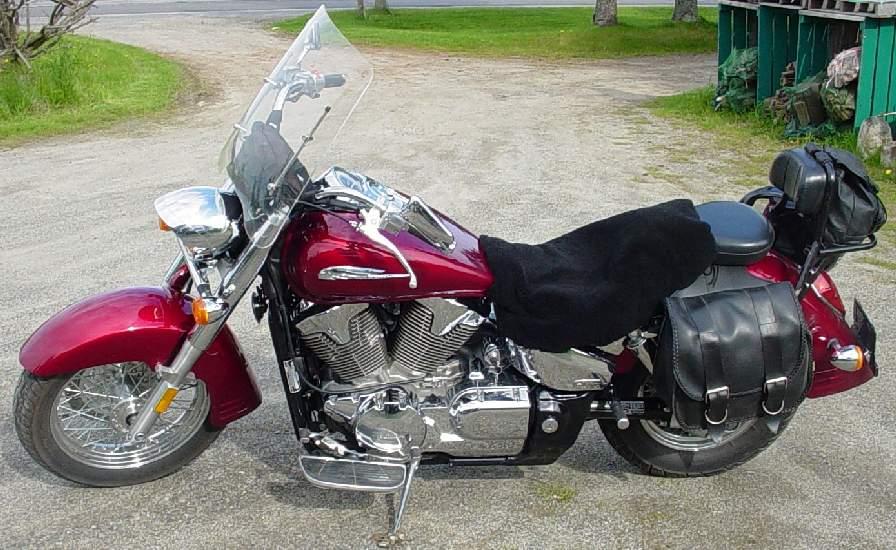 Motorcycle seat cover customers gene judkins from herman for Honda motorcycle dealers maine
